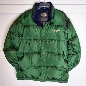 Vintage Polo Jeans Puffer Jacket Green XL Down